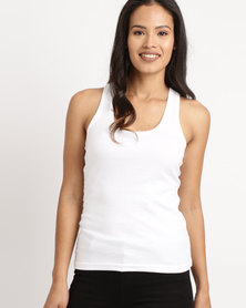 Ultimate T Racerback Vest White