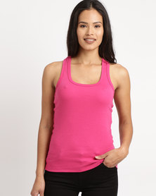 Ultimate T Racerback Vest Hot Pink
