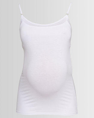 Annabella Maternity Breastfeeding Camisole White
