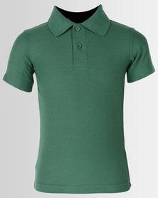 Tee & Cotton Classic Pique Knit Polo Green