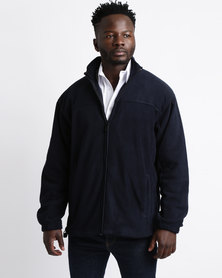 Highland Brook Classic Microfibre Zip Through Navy