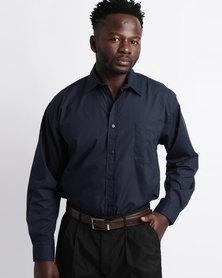 Oakhurst Icon Woven Long Sleeve Shirt Navy