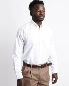 Oakhurst Woven Chambray Shirt White