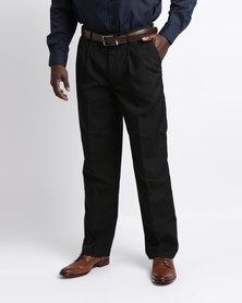 Oakhurst Classic 2 Pleat Trousers Black