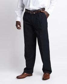 Oakhurst Classic 2 Pleat Trousers Navy