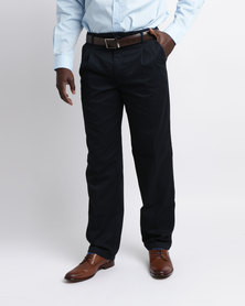 Oakhurst Classic 2 Pleat Chinos Navy