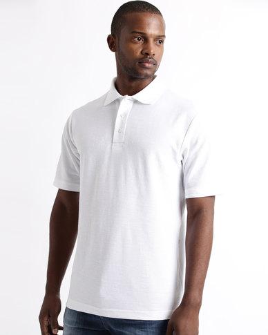 Tee & Cotton Classic Pique Knit Polo White
