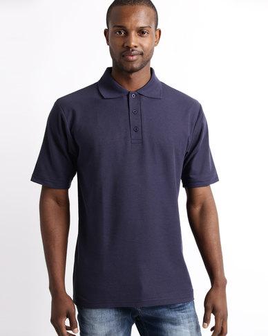 Tee & Cotton Classic Pique Knit Polo Navy
