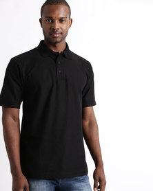 Tee & Cotton Classic Pique Knit Polo Black