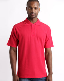 Tee & Cotton Classic Pique Knit Polo Red