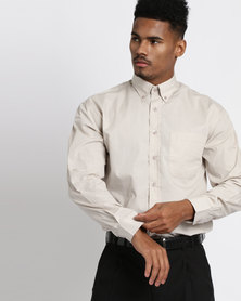 Vangard Cameron Plain Shirt Stone