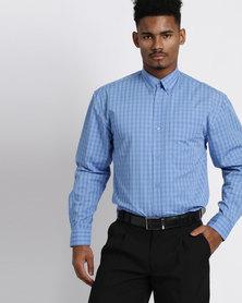 Vangard Cameron Check Shirt Blue