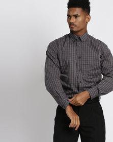 Vangard Cameron Check Shirt Charcoal