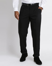 Vangard Phillip Single Pleat Trousers Black