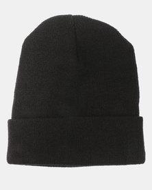 Cap Addiction Knitted Beanie Black