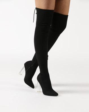 Dolce Vita Sorrento OTK Boots Black