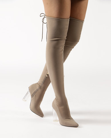 Dolce Vita Sorrento OTK Boots Taupe  ba7972994dc