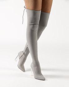 Dolce Vita Sorrento OTK Boots Grey