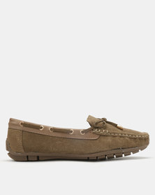 Dolce Vita Tunis Leather Flats Taupe