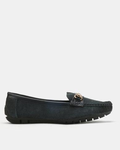 Dolce Vita Tunis-507 Leather Flats Navy