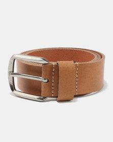 Swagga Genuine Leather 40mm Casual Belt Tan