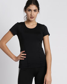 Fifth Element Noir Short Sleeve Sports Top Black