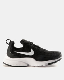 96e6c7d30dc9 Nike Womens Presto Fly Sneakers Black   White