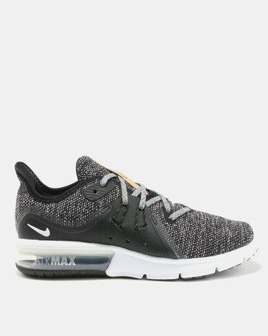 free shipping c081a 033d3 Nike Performance Womens Nike Air Max Sequent 3 Black/White/Dark Grey | Zando