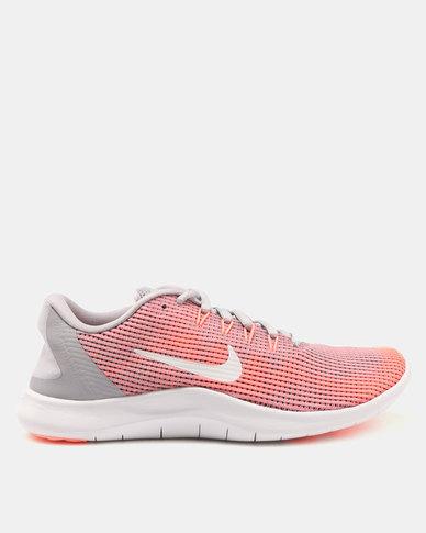 Nike Performance Womens Nike Flex 2018 RN Trainers Atmosphere Grey ... a96b9cc809