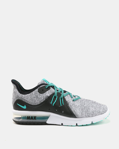 d74b3044cc1 Nike Performance Nike Air Max Sequent 3 White Hyper Jade Black