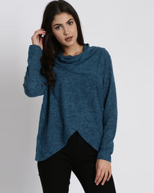 Utopia Wrap Cut n Sew Cardigan Teal