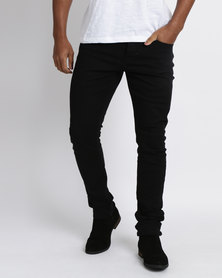 Utopia Slim Leg 5 Pocket Trousers Black