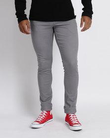 Utopia Slim Leg 5 Pocket Trousers Grey
