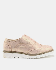 Queue Casual Lace Up Rose Gold