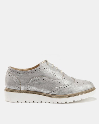Queue Casual Lace Up Shoes Grey