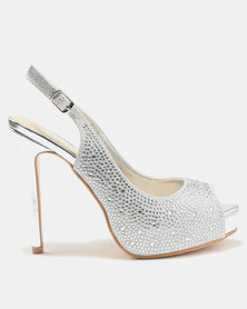 Wild Alice by Queue Diamante Platform Courts Silver