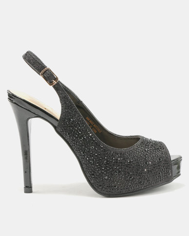 Wild Alice by Queue Diamante Platform Courts Black