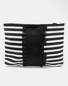 Utopia Stripe Canvas Tablet Bag Black/White