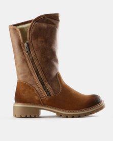 Grasshoppers Val Suede Ankle Boots Tan