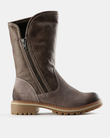 Grasshoppers Val Suede Ankle Boots Grey