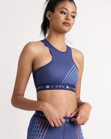 Euphorik Fit You Are The One Crop Navy