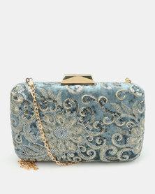 Blackcherry Bag Clutch Bag Blue/Gold