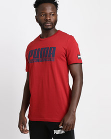 Puma Style Athletics Graphic Tee Red