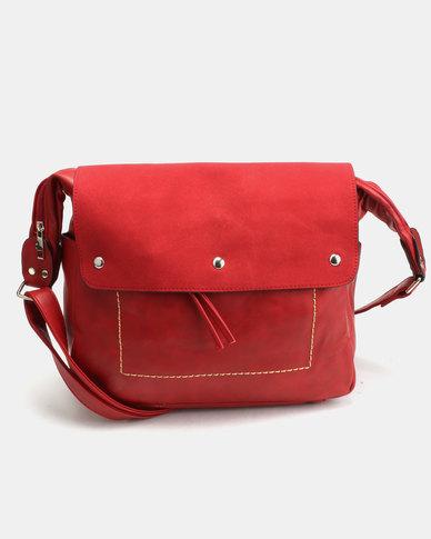 Utopia Flap Handbag Red