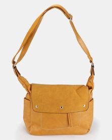 Utopia Flap Handbag Mustard