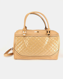 Utopia Quilted Weekend Bag Camel