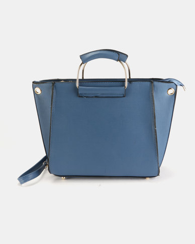 Utopia D Ring Handbag Blue