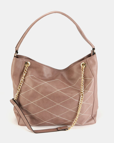Utopia Quilt Slouchy Bag Mink