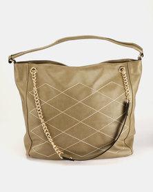 Utopia Quilt Slouchy Bag Khaki