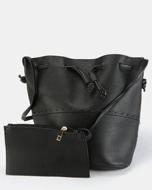 Utopia Drawstring Handbag Black